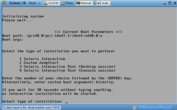 Articles - Solaris under VMWare under Windows [ steve-parker