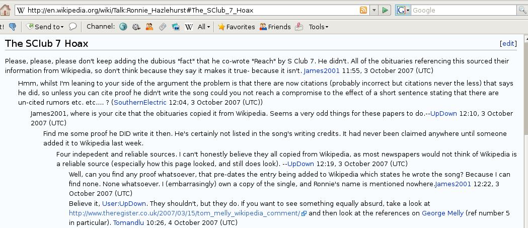 Wikipedia SClub 7 / Hazlehurst