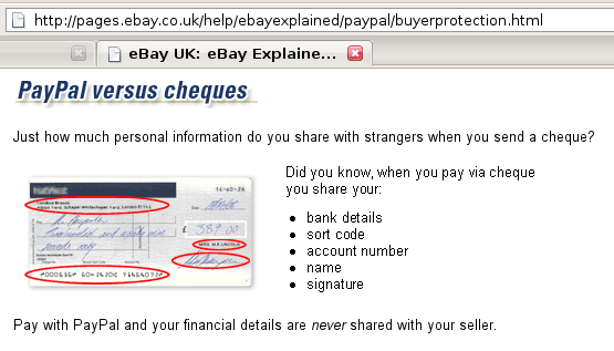 PayPal vs Cheques