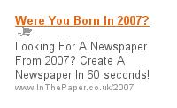 Born in 2007?
