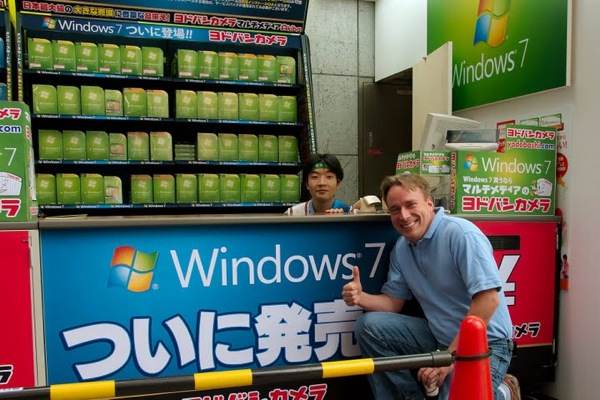 Linus Torvalds at Windows 7 Launch